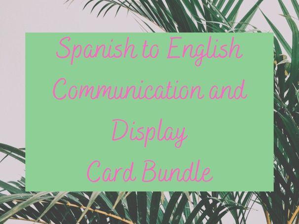 Spanish ESL EAL Communication Pack