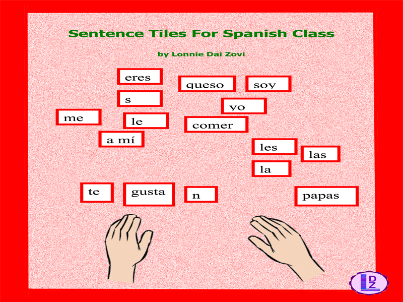 Spanish Sentence Making Tiles - Great Learning Manipulatives