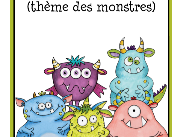 Monster Calendar in French