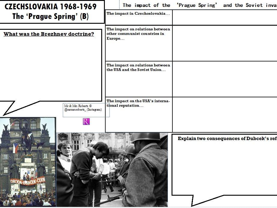 Edexcel GCSE History - Cold War - Topic 2 - The Prague Spring PART B