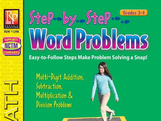 Step-by-Step Word Problems for Grades 3 to 4