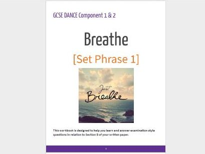 AQA GCSE Dance Set Phrase Breathe Booklet