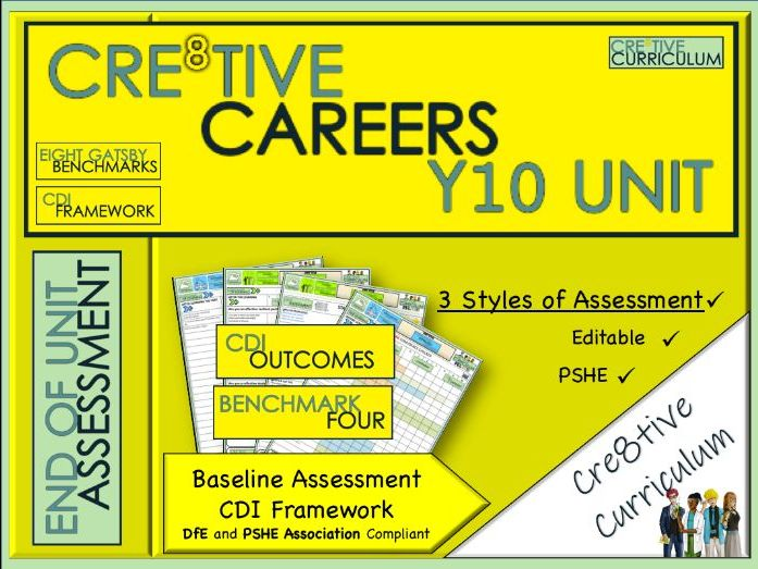 Year 10 Cre8tive Careers Baseline Assessment