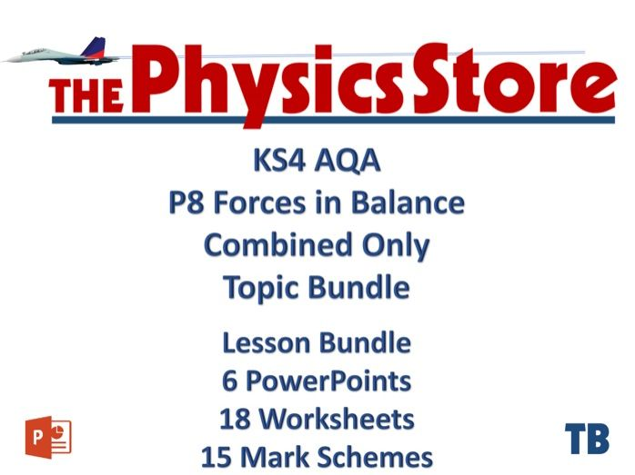 KS4 GCSE Physics AQA P8 Forces in Balance Combined Only 6PPTS 18WS 15MS