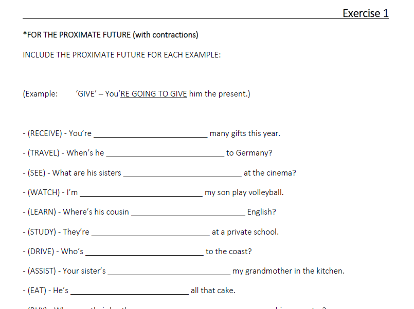 """The Proximate Future """"going to…"""" (LESSON 13)"""