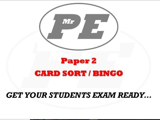 CARD SORT/BINGO Paper 2 Vocabulary