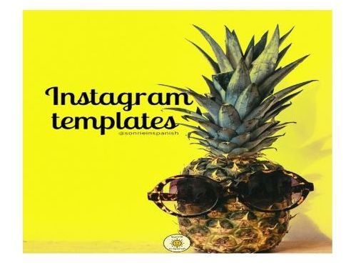 English instagram templates -vocabulary practice for starters,plenaries, extensions & rewards
