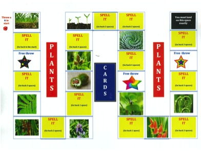 KS1/2  Plants -Spelling - Board game