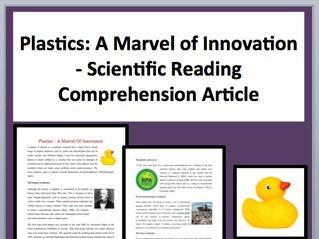 Plastics Comprehension Reading KS3 and KS4