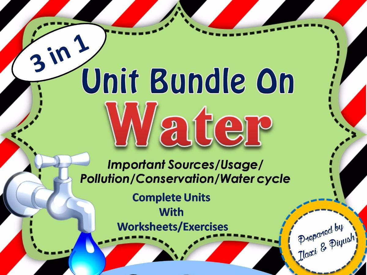 Water Unit Bundle - Water unit / Water Cycle / Water Scavenger Hunt/Water Cycle Scavenger Hunt