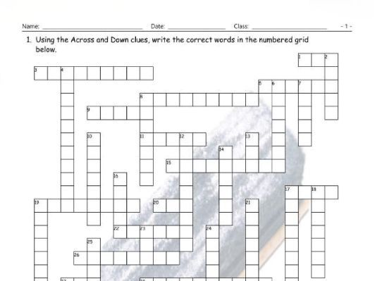 Chatting online for short crossword puzzle