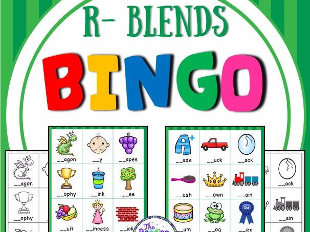 Blends Bingo Game (R Blends)