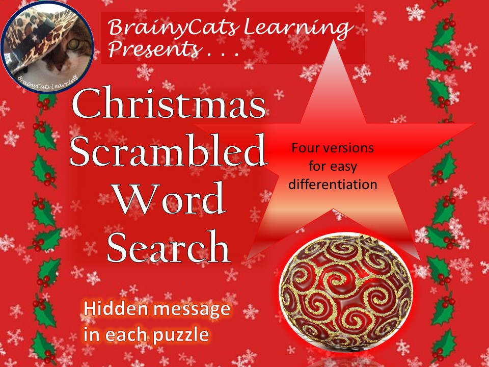 Christmas Word Scramble Word Search