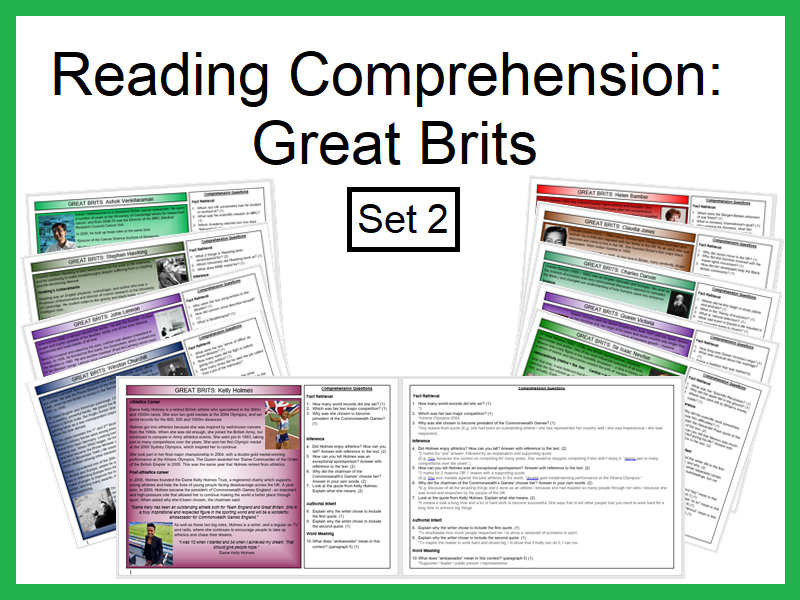 Reading Comprehension:Great Brits (Set2)