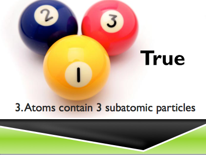 Atoms true or false