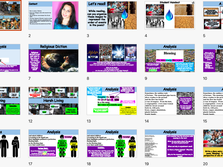 'Blessing' by Imtiaz Dharker (1 Lesson Plan)