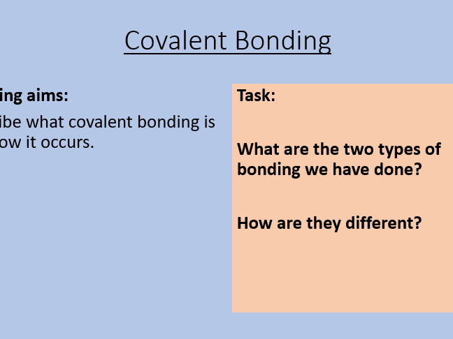 AQA C3.5 Covalent Bonding