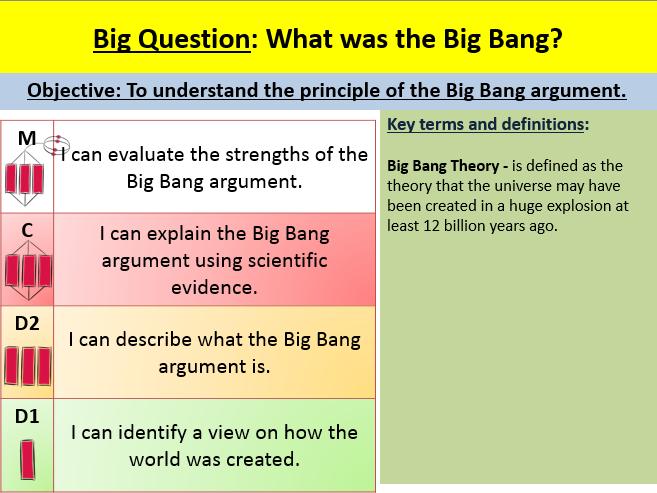 The Big Bang Lesson