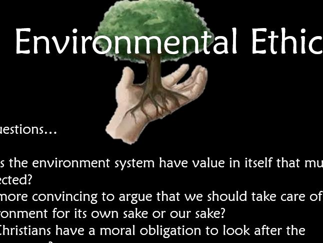 Religious Studies AS Edexcel 9RS0 Unit 1.1 Environmental Ethics