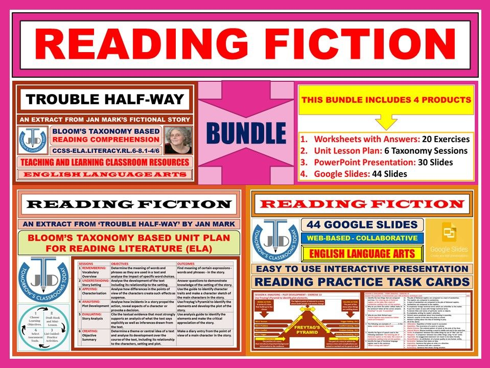 READING FICTION: BLOOM'S TAXONOMY BASED - BUNDLE