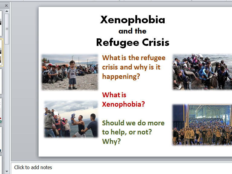 Xenophobia and the Refugee Crisis