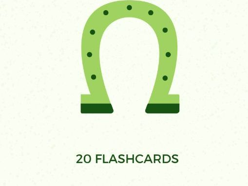 St. Patrick's Day 20 colourful flashcards