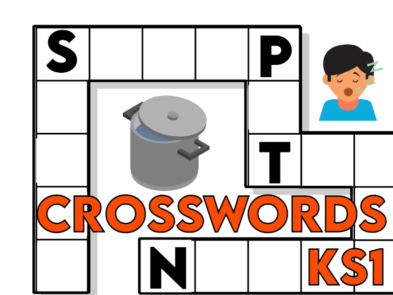 8 Simple Crosswords with Answers KS1