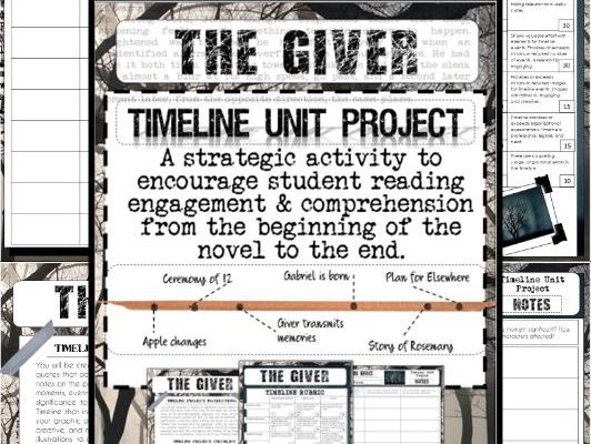 The Giver Unit Activity Project: Timeline (for Engagement and Comprehension)