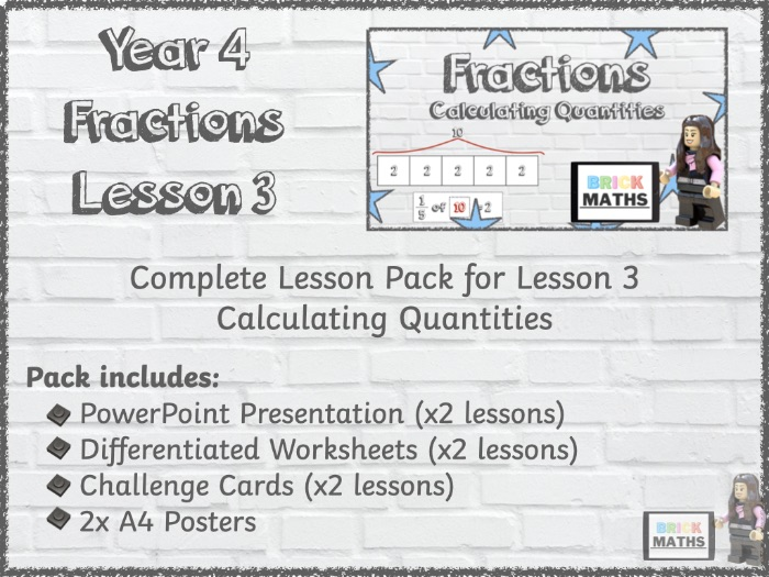 Y4 Fractions Lesson 3 - Calculating Quantities - Year 4