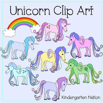 Unicorn Clip Art, Color & Black Line .PNG Images with Transparent Backgrounds