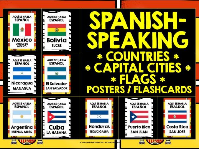 SPANISH-SPEAKING COUNTRIES POSTERS