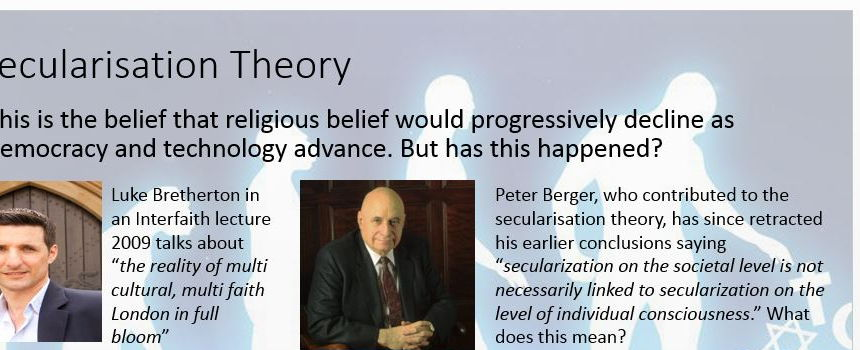 The Challenge of Secularism Power Point: R.S New Spec A2