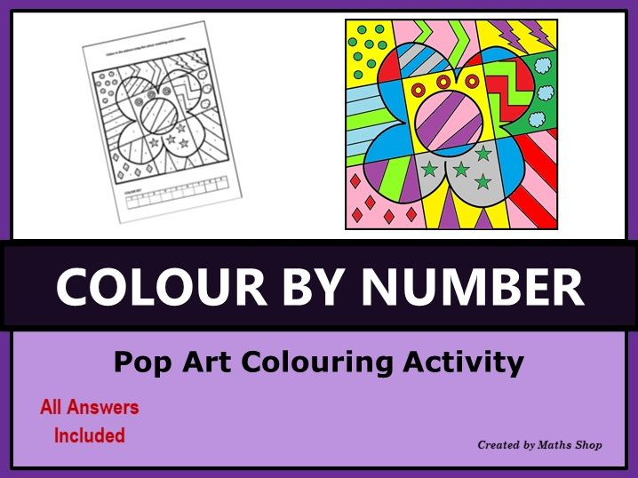 Colour by Number Pop Art