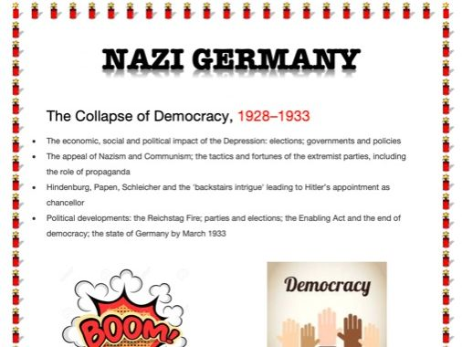 AN EASY GUIDE TO AN A*: A-LEVEL: THE COLLAPSE OF DEMOCRACY - 1928-33