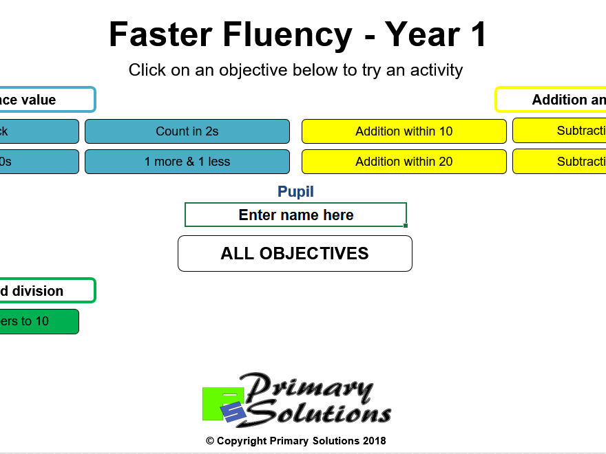 Faster Fluency - Year 1