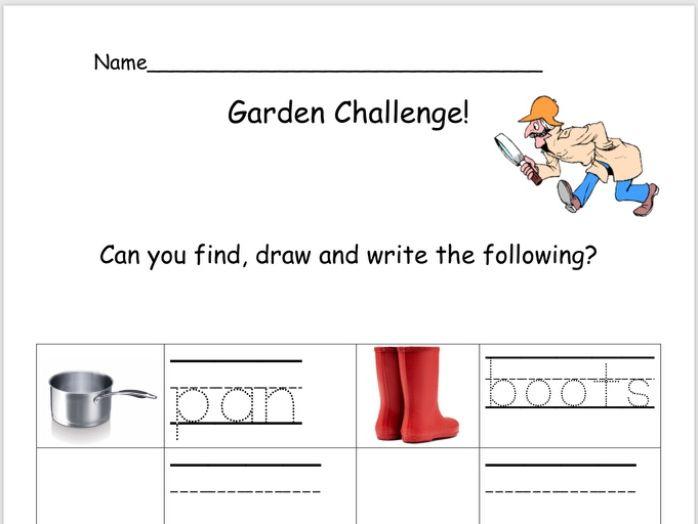 Outdoor Writing Challenge: Sheet 3