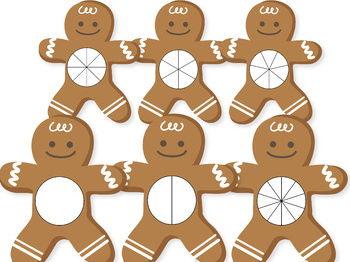 Gingerbread Man Spinners, Math Clip Art, Math Clipart