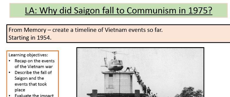 The Vietnam War- Fall of  Saigon 1975