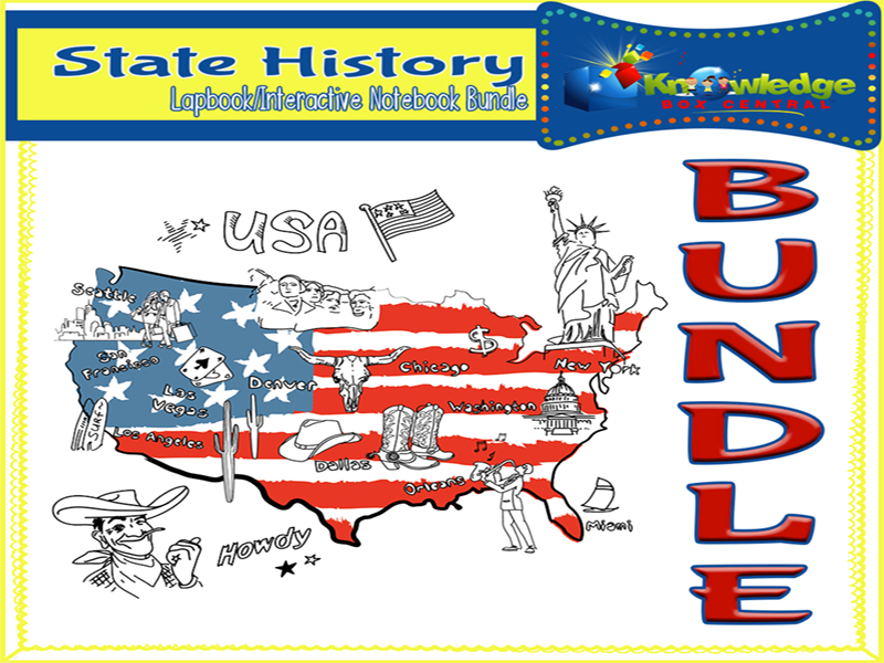 State History Lapbook / Interactive Notebook BUNDLE for ALL 50 STATES