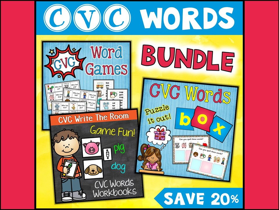 CVC Words: CVC Words Bundle