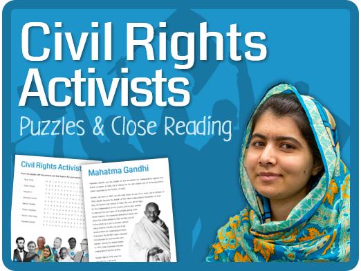 Civil Rights Activists (Puzzles, reading & questions)