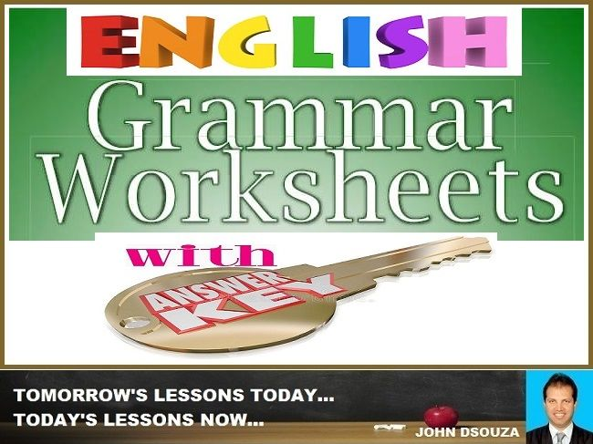 ENGLISH GRAMMAR WORKSHEETS WITH ANSWER KEY: BUNDLE