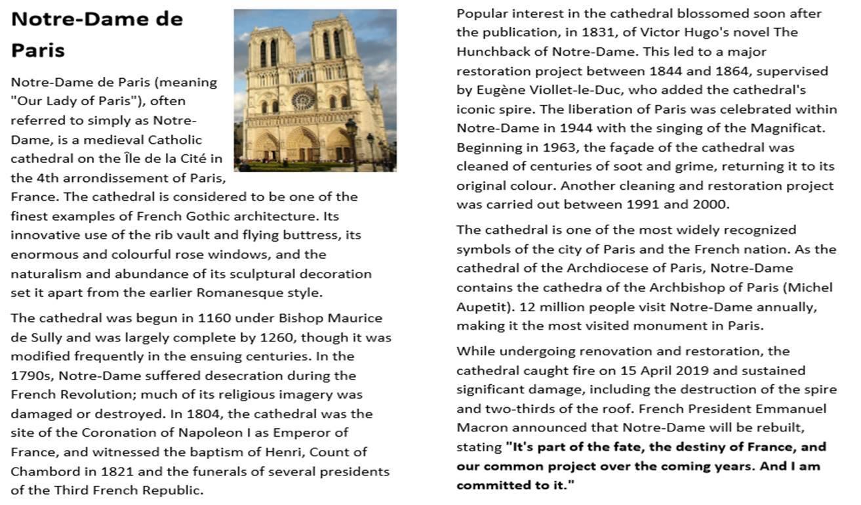 Notre-Dame de Paris Cathedral Activity Pack