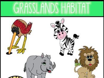 Grasslands Habitat Clip Art