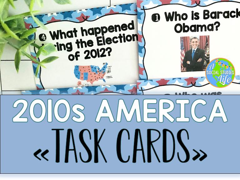 2010s America Task Cards