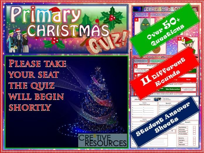 Primary Christmas Quiz 2018 KS1 KS2