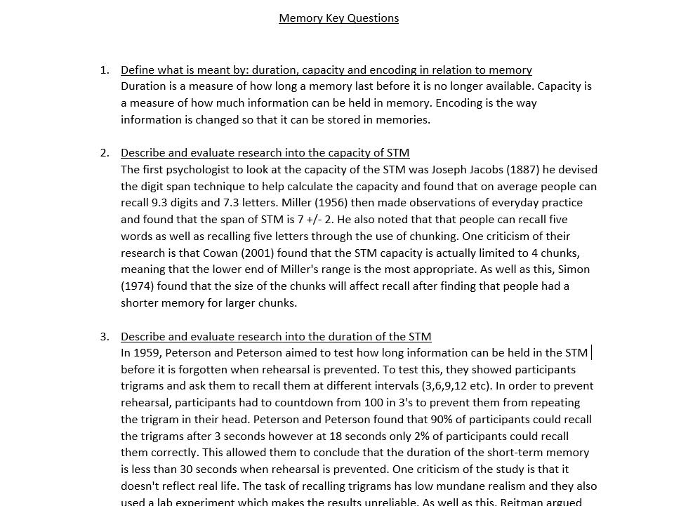 AQA ALEVEL PSYCHOLOGY PAPER 1 BUNDLE