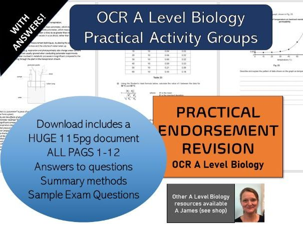 OCR Biology Practical Activity Group COMPLETE BOOKLET