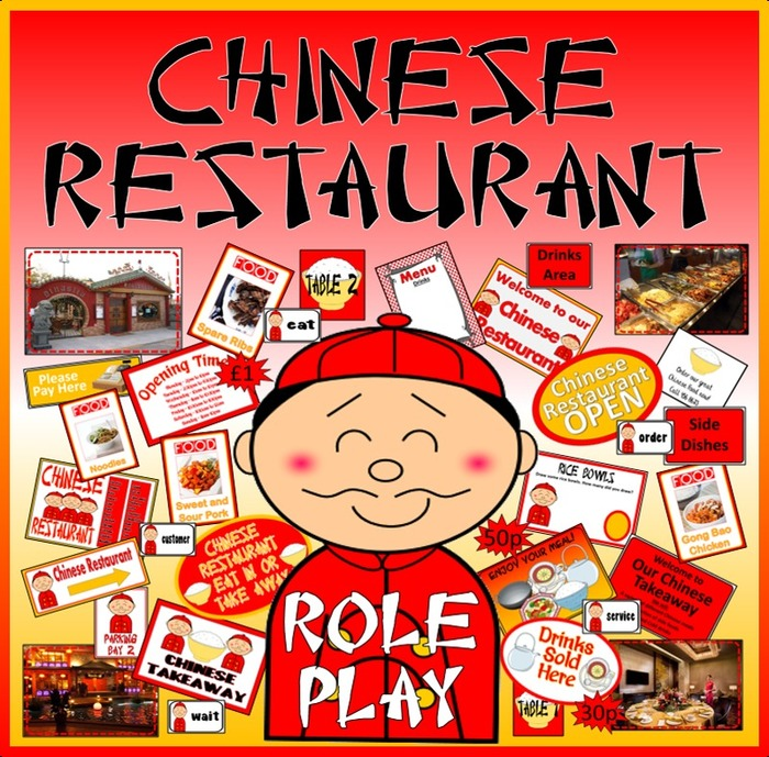 Chinese Restsurant: CHINESE RESTAURANT ROLE PLAY RESOURCES EYFS KS1-2 FOOD