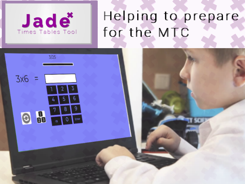 Interactive Year 4 MTC Times Tables Test - Jade Times Tables Tool